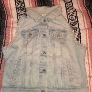 Light Wash Jean Vest